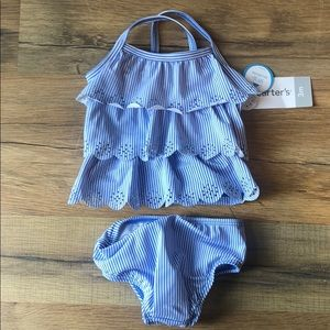 Carter's baby Girl 2 Piece Swim Suit 3 & 6 M NWT!